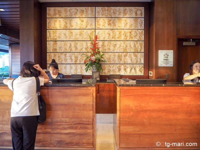トランプホテルフロント