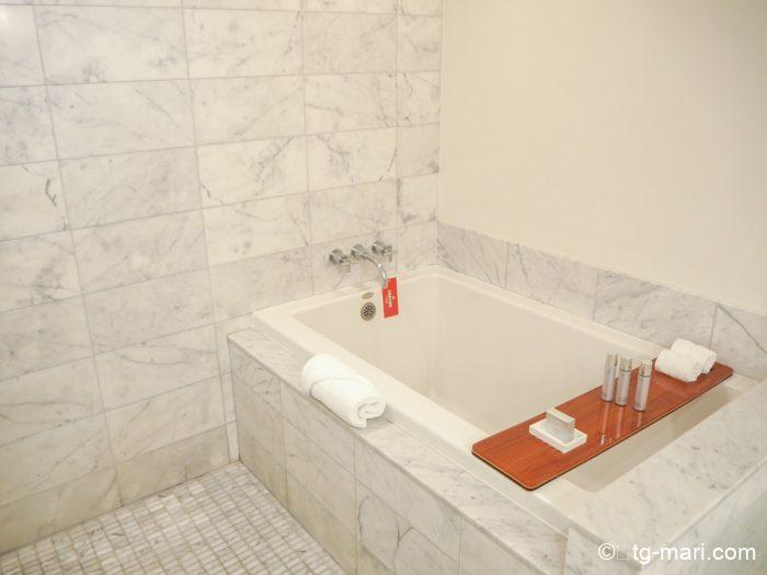 トランプホテルのバスルーム
