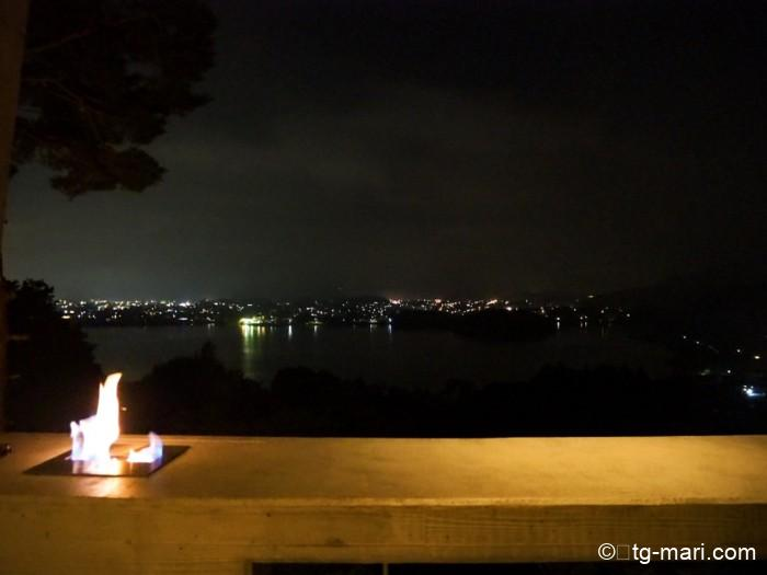 星のや富士の夜のテラス