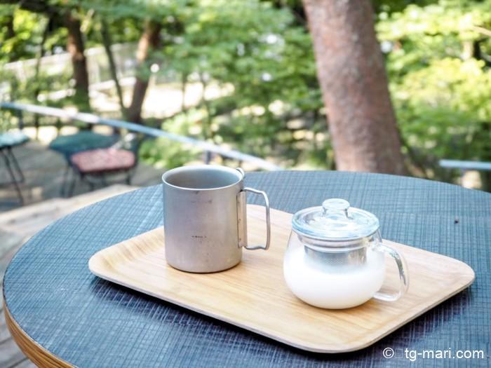 星のや富士のラベンダーミルクとコーヒー