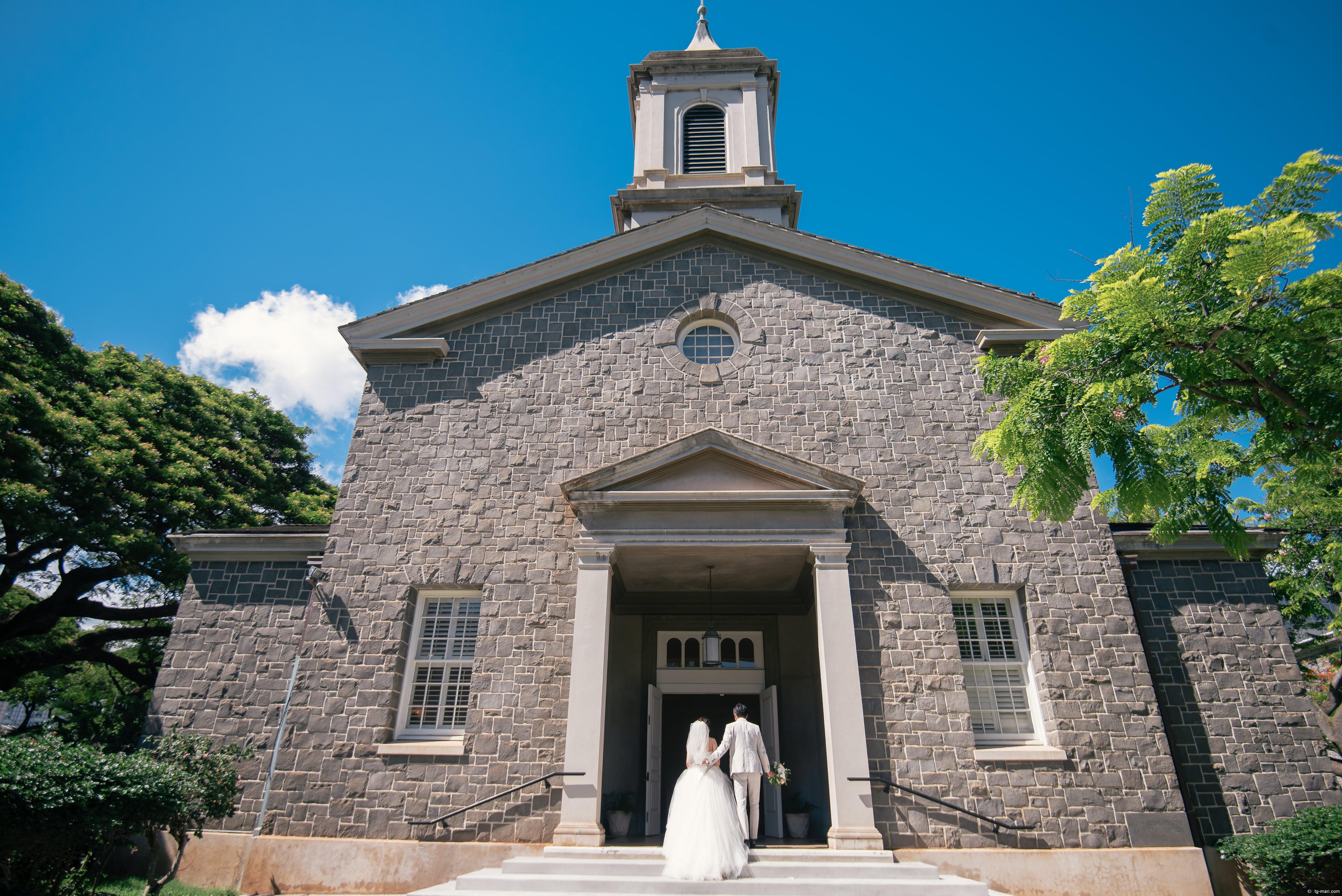 一目惚れしたハワイの小さな教会「セントラルユニオン中聖堂」