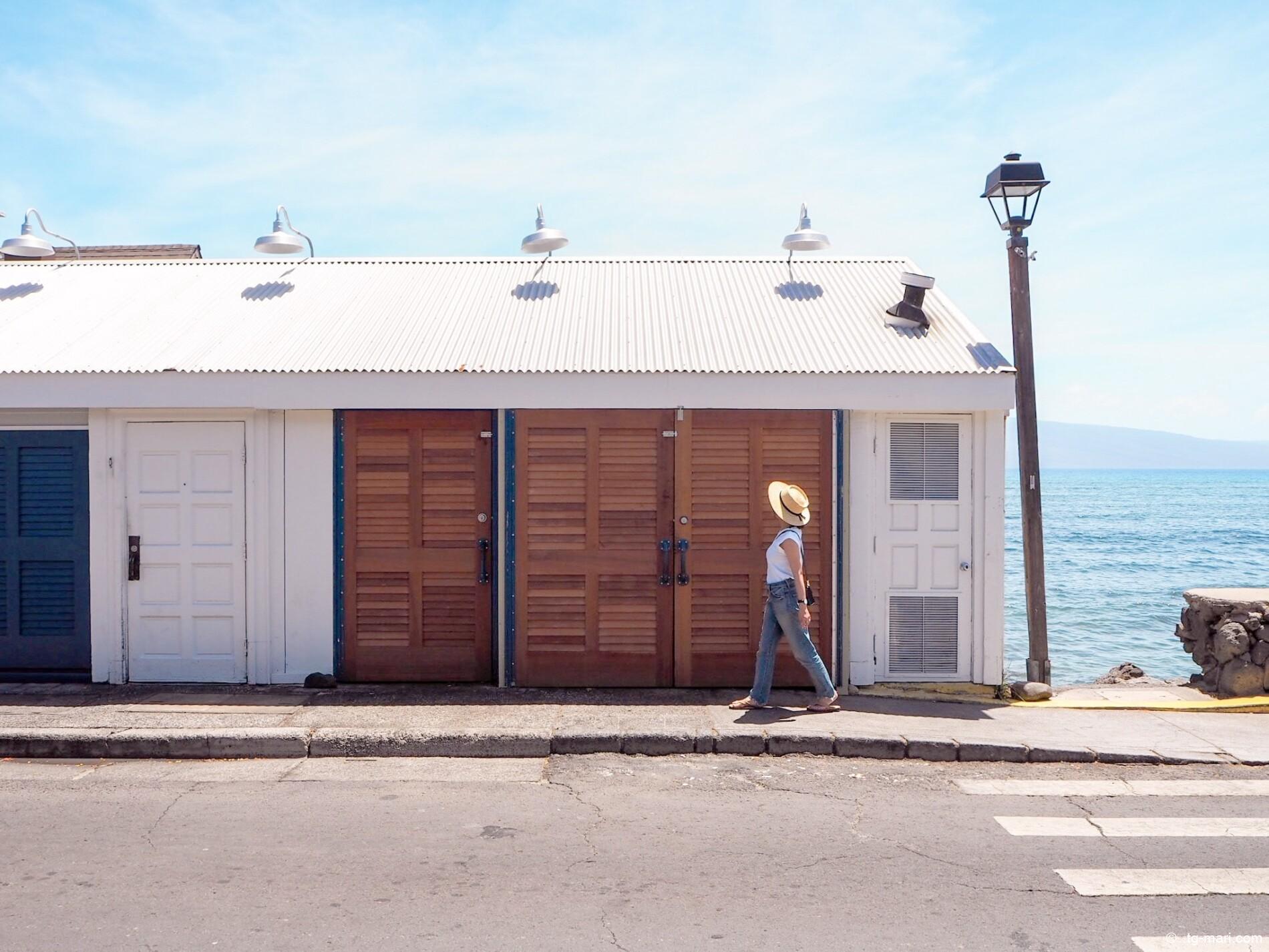 マウイ島の海辺の町ラハイナ
