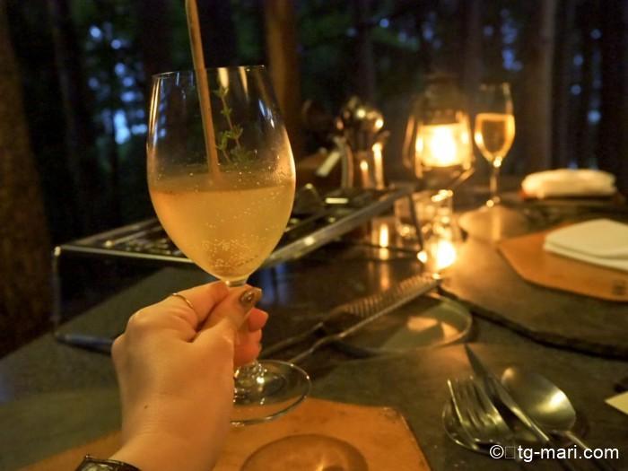 星のや富士のディナー