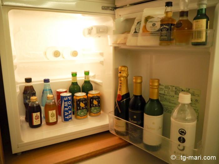 星のや富士の冷蔵庫