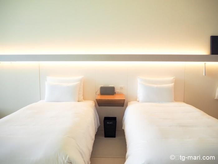 星のや富士のベッド