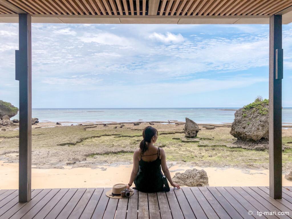 バンタカフェの海辺のテラス