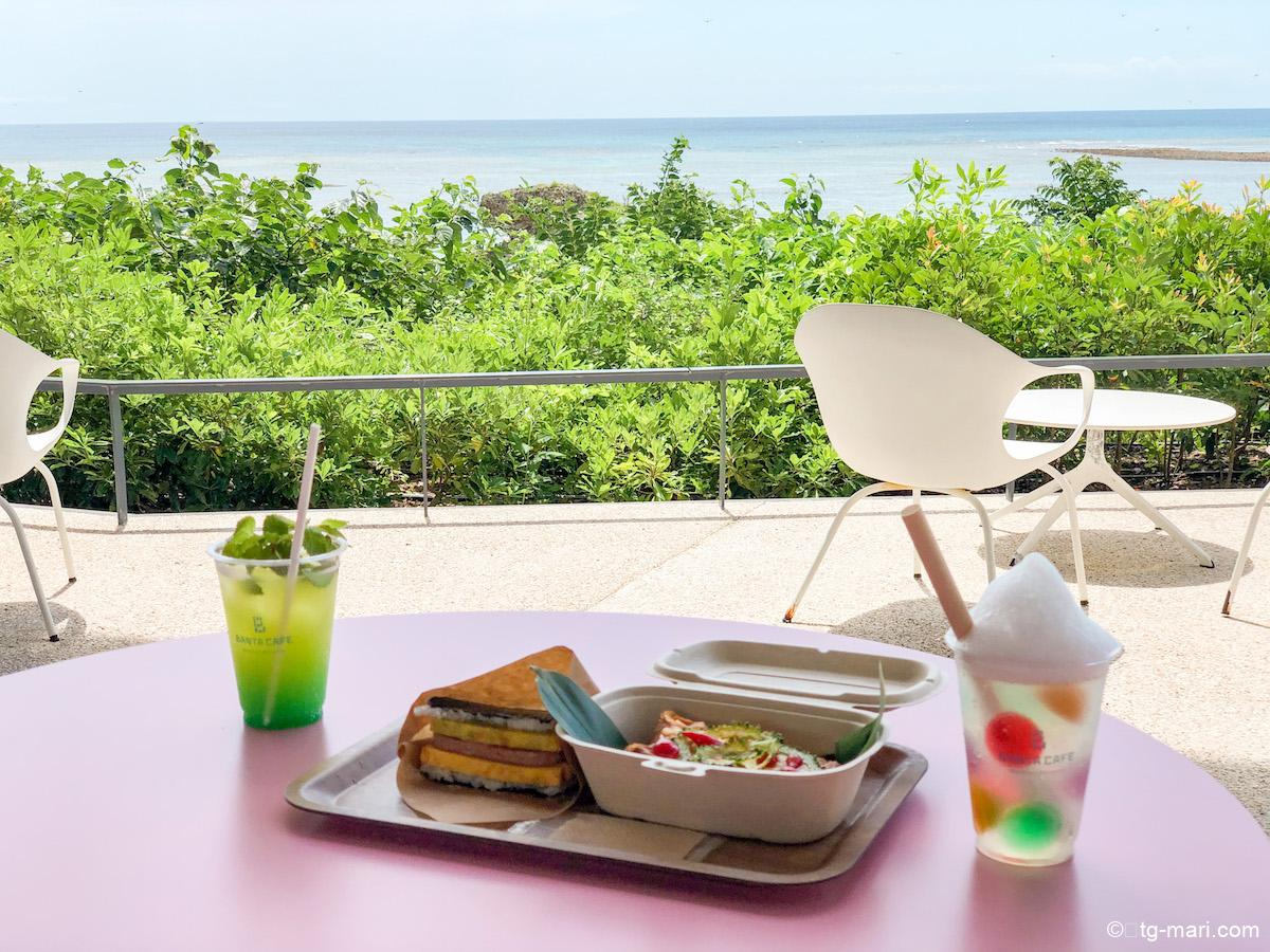 星のや沖縄のバンタカフェのメニュー