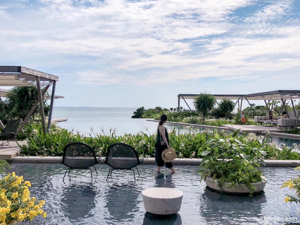 星のや沖縄のプール
