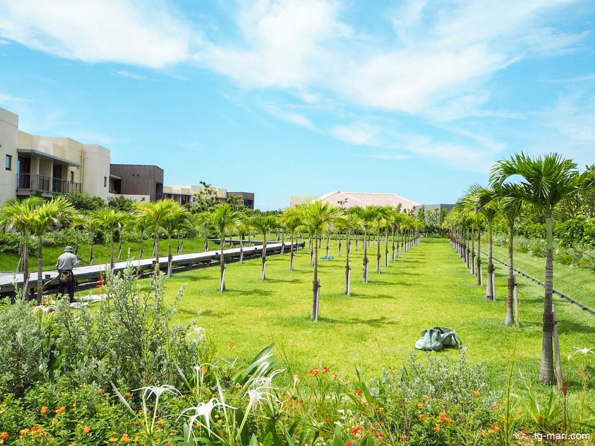 星のや沖縄の庭園