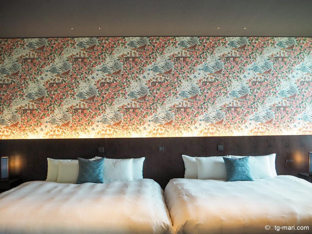 星のや沖縄フゥシのベッドルーム